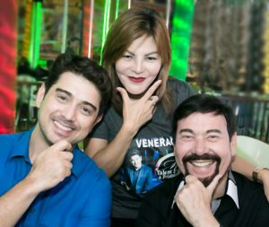 Ian Veneracion, Aida Patana of M Talents, and French Consul Michel Lhuillier